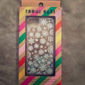 Forever 21 iPhone 6/7/8 Glitter Snowflake Case